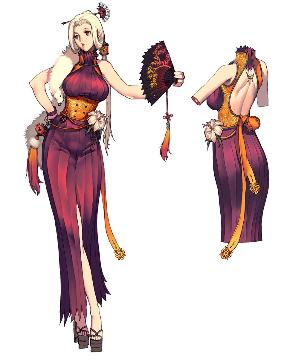 Character Design Kimono : Blade and soul character design anime art